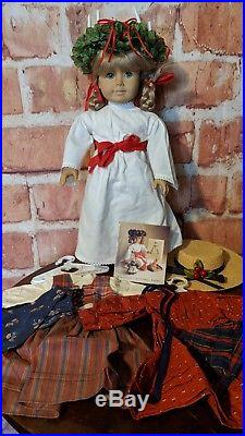 American Girl Doll Kirsten Larson 18 Doll White Body, 3 Outfitsfree Ship