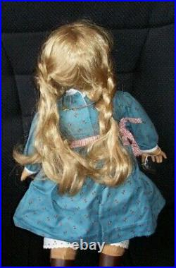 American Girl Doll Kirsten Larson Pleasant Company withMeet Outfit, Amber Necklace
