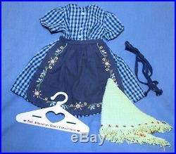 American Girl Doll Kirsten On The Trail Outfit Checkered Dress Retired