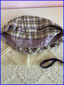 American Girl Doll Kirsten Plaid Promise Outfit- Box, Dress, Shawl, Ribbons