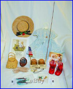 American Girl Doll Kirsten Summer Story Outfit 4th July Set Fishing Set Retired