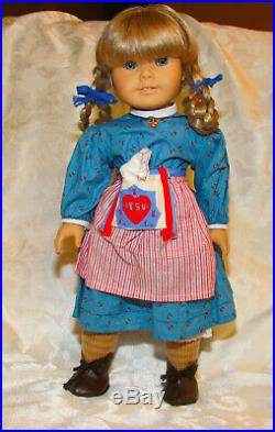 American Girl Doll Kirsten White Cloth Body With Box Plus School Outfit Books