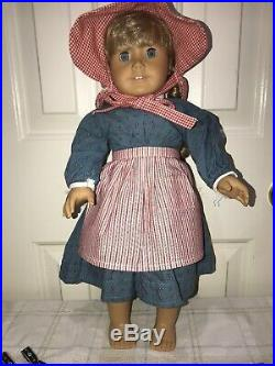 American Girl Doll Kirsten with Meet Outfit + Nightgown + Robe + Winter Outfit