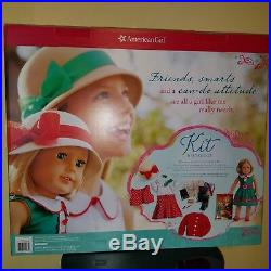 American Girl Doll Kit Kittredge NEW Deluxe Box Set Two Outfits Accessories ++