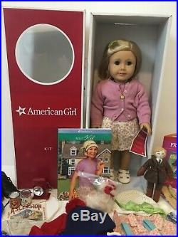 American Girl Doll Kit Kittredge With Outfits & Accessories Lot
