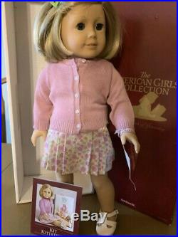 American Girl Doll Kit Kittredge, extra red dress outfit, 3 books, original box