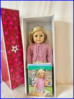 American Girl Doll Kit Kittridge- great condition, meet outfit, box, book