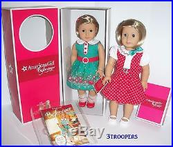 American Girl Doll Kit Plus Kit's Reporter Dress Set One Doll Two Outfits