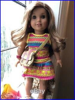 American Girl Doll Lea Clark 2016 with 4 Outfits, Accessories, Pierced Ears