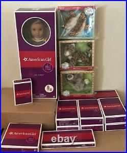 American Girl Doll Lea Clark Lot House Fruit Stand Outfits Accessories Pets 19