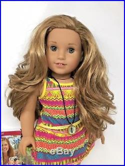 American Girl Doll Lea Clark Meet Outfit Bag Compass Books Camera Headband