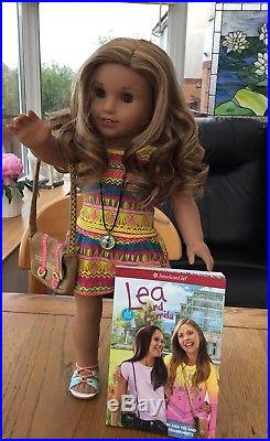 American Girl Doll Lea In Full Meet Outfit With Compass And Bag