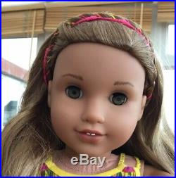 American Girl Doll Lea In Meet Outfit Soft Silky Hair With Plaited Hairband