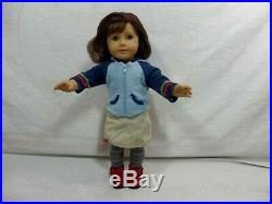 American Girl Doll Lindsay Lindsey 2001 Doll of the Year Wearimg Meet Outfit