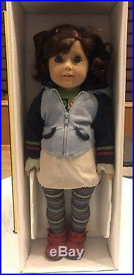 American Girl Doll Lindsey + Meet Outfit GOTY 2002 with Helmet and Scooter NIB