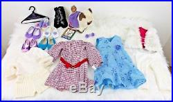 American Girl Doll Long Red Hair Green Eyes + Extra Outfits & Accesories & Cat