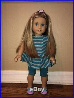 American Girl Doll Lot McKenna 2012 and 1 Truly Me- 10 outfits, 2 movies! WOW