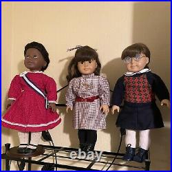 American Girl Doll Lot of 3 Samantha, Addy & Molly, Outfits, Accessories
