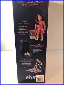 American Girl Doll Luciana Vega Set Starry Night Outfit Telescope Projector Set
