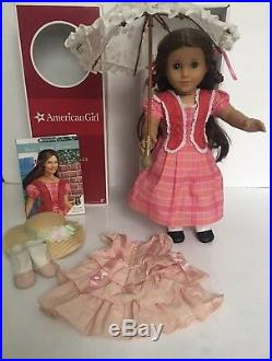 American Girl Doll Marie Grace Summer Outfit Outfit & Umbrella Lot Box EUC