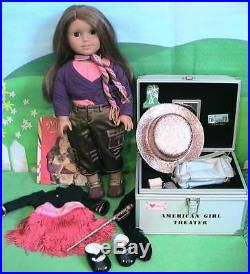 American Girl Doll Marisol Doll Trunk with Book, Meet and Tap Outfits ETC
