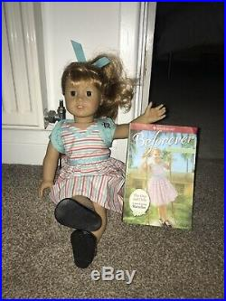 American Girl Doll Maryellen With Book In meet Outfit Immaculate