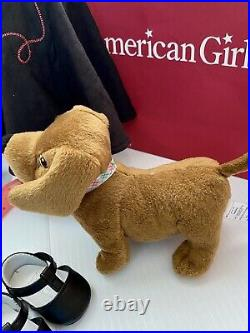 American Girl Doll Maryellen with Larkin Dog Scooter + Meet and poodle outfit