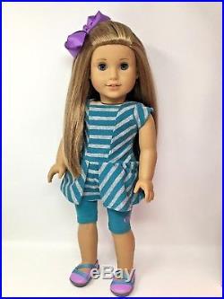 American Girl Doll McKenna GOTY 2012 Outfit Crutches Cast Box -Pristine