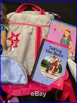 American Girl Doll McKenna Huge Lot Gymnastic Earrings Outfits Brush Backpack