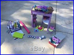 American Girl Doll Mckenna's Loft Bed & Gymnastics Set With Outfits
