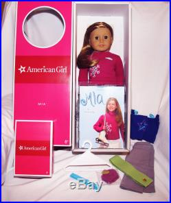 American Girl Doll Mia New Nib With Practice Outfit Retired Nrfb