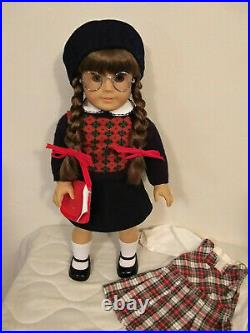 American Girl Doll Molly Pleasant Company 1990's Plus School Outfit