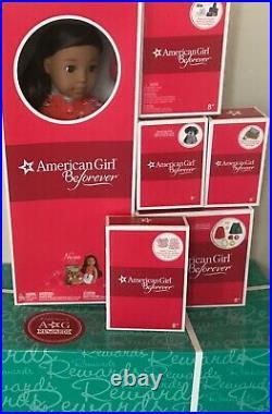 American Girl Doll Nanea Hawaiian PJs Hula Outfit Mele Dog Pet Bed Book Bundle