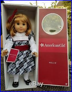 American Girl Doll Nellie With Holiday Dress Outfit Mint In Box Pleasant Company