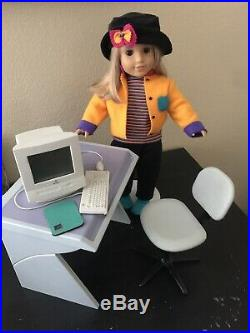 American Girl Doll Of Today With First Day outfit & Computer table