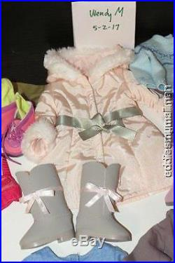 American Girl Doll Outfit lot of 10 Authentic Play/PJS/Dress Up Holiday Clothes