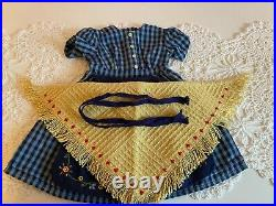 American Girl Doll Pleasant Company Kirsten On The Trail Checked Dress Outfit Ag