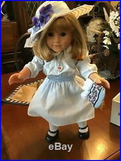 American Girl Doll RETIRED 2009 Nellie OMalley With Meet Outfit in Box + Extras
