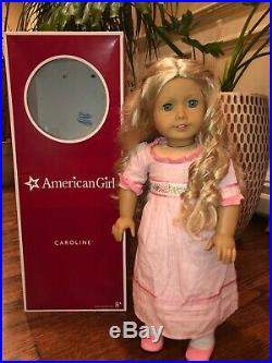 American Girl Doll RETIRED Caroline (MEET OUTFIT, CURLED HAIR, CLEAN)
