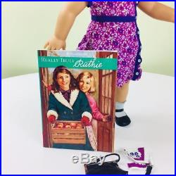 American Girl Doll RUTHIE Doll with Outfit, Accessories, Book