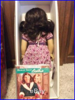 American Girl Doll RUTHIE SMITHINS+Mini NEW RETIRED Full Meet Outfit Box Book