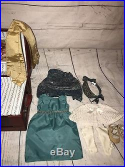American Girl Doll Rebecca Rubin With Costume Chest, School And Hanukkah Outfit