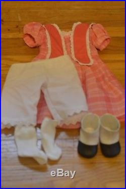 American Girl Doll Retired Marie Grace with Meet Outfit Brown Hair Blue Eyes