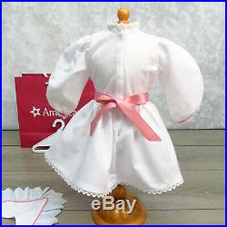 American Girl Doll SAMANTHA TEA PARTY DRESS + SLIPPERS NEW Outfit Ribbon & Socks