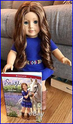 American Girl Doll Saige with Complete Meet Outfit, Earrings and Book