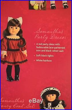 American Girl Doll Samantha Limited Edition Holiday/Christmas Set With3 Outfits
