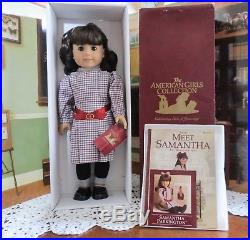 American Girl Doll Samantha Meet Outfit/Book Maroon Box NEW NRFB 18 (E)