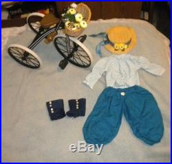 American Girl Doll Samantha's Bicycling Outfit with Bicycle Both Very Rare