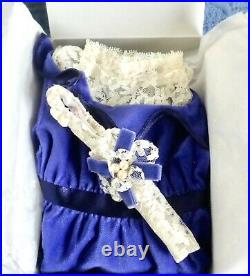 American Girl Doll Samantha's Blue Velvet Dress Outfit NIB PRIORITY SHIPPING