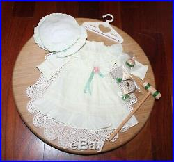 American Girl Doll Samantha's RETIRED & RARE Lawn Outfit & Accessories, EUC